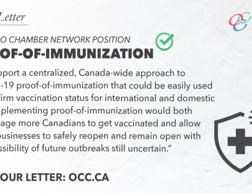 Ontario Chamber Network Position on Proof-of-Immunization